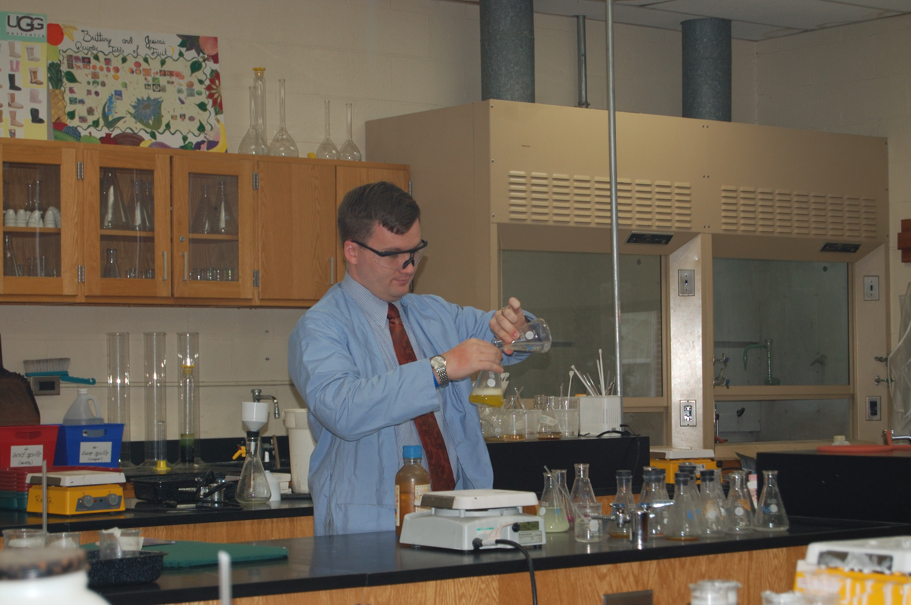 Mr. Rickard in the lab
