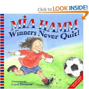 Book Cover of Winners never quit
