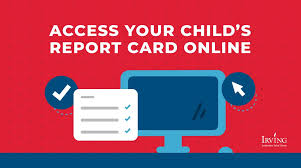 Directions for access your child's report card online.