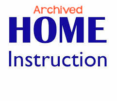 Archived Home Instruction Plans